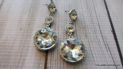 Encircled Sparkle Dangle Earrings (more colors)