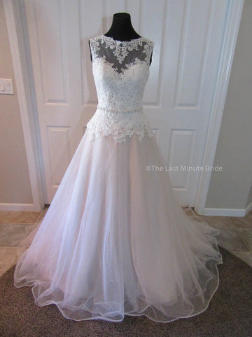 100% Authentic Ella Rosa by Kenneth Winston Wedding Dress from The Last Minute Bride