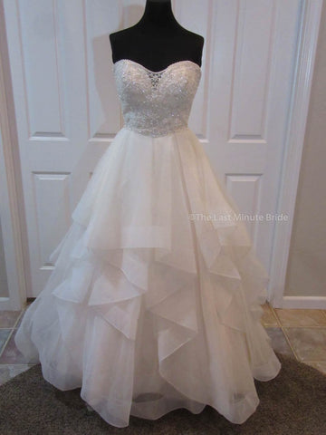 100% Authentic Ella Rosa by Kenneth Winston BE361 Wedding Dress