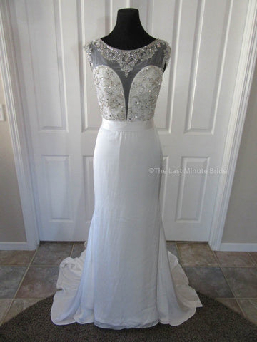 Made to Order 100% Authentic Elsa by The Last Minute Bride Wedding Dress