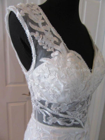 Keyhole Back Wedding Dress