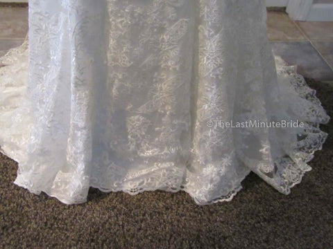 Jacquelin Exclusive Heather 19034 size 4 all Ivory