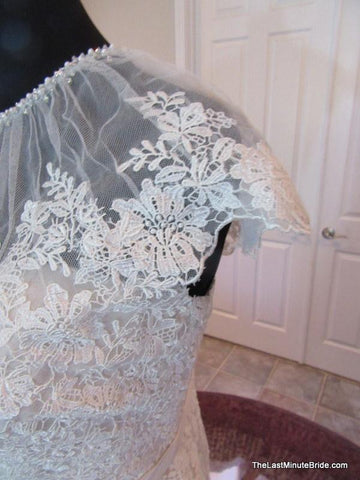Capped Sleeve Wedding Dress