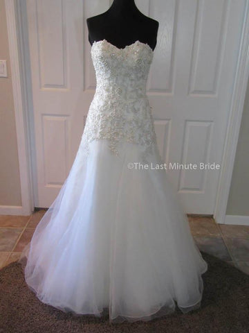 100% Authentic Maggie Sottero Ladonna wedding dress from The Last Minute Bride.