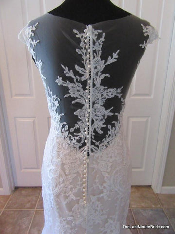 Sheer Back Wedding Dress