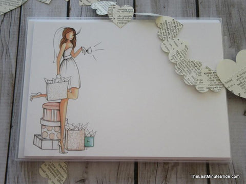Bride to Be Notecard Boxed Set - Brunette Edition