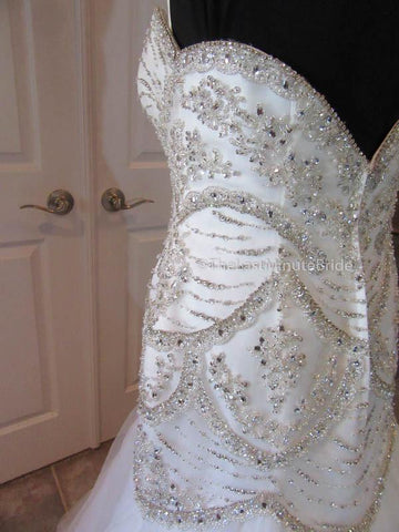 Elongated Dropped Waist Wedding Dress