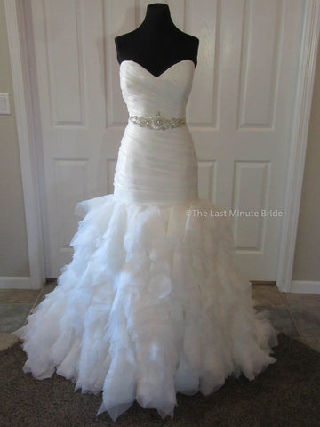 100% Authentic Morgan by Last Minute Bride Wedding Dress