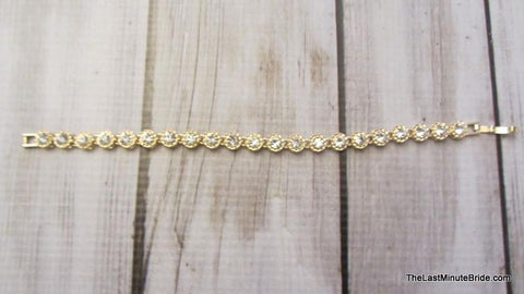 Round Rhinestone Bracelet (more colors)