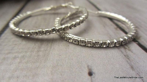Rhinestone Hoop Earrings (more sizes)