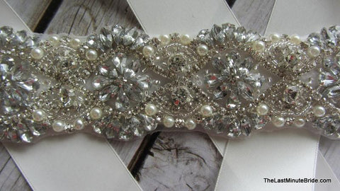 Rhinestone & Pearl Belt Style: Sydney (more colors)