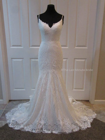 100% Authentic Samantha by Last Minute Bride Wedding Dress