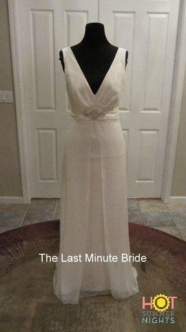 Sandals Wedding Dress by Dessy 1033