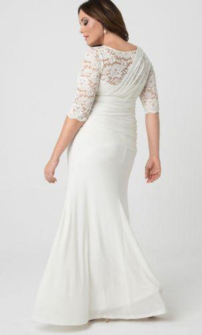 3/4 Sleeve Wedding Dress