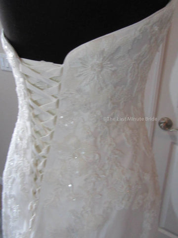 Color Ivory Lace Wedding Dress