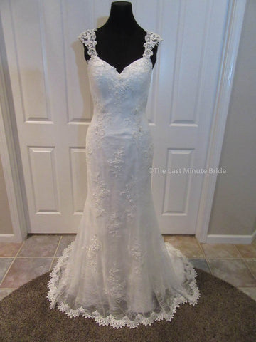 100% Authentic Paula by The Last Minute Bride Wedding Dress