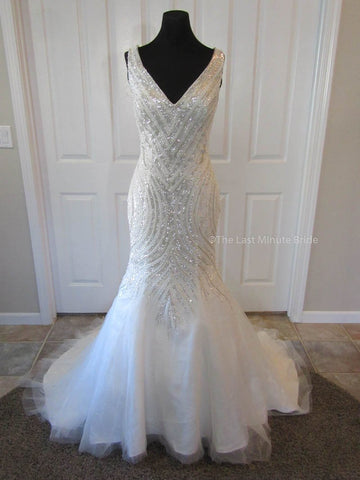 Made to Order 100% Authentic Last Minute Bride Wedding Dress Style Veronic