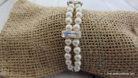2 Strand Swarovski Crystal & Pearl with Large Accents