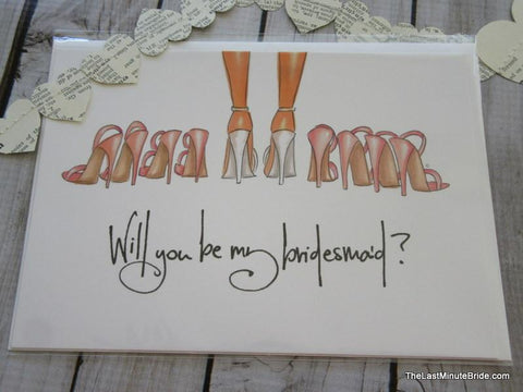Will You Be My Bridesmaid Notecard - Single
