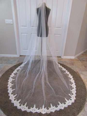 Cathedral Length Veil Style: Alencon