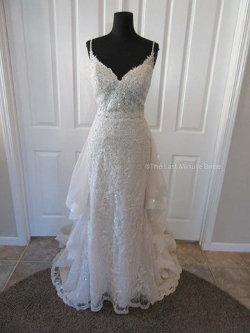 Sottero & Midgley Style Marcelle 8SS782 w/Detachable Overskirt