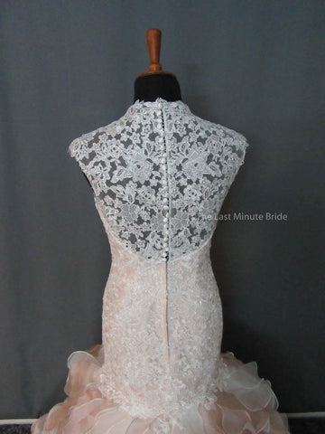 Lace Back Wedding Dress