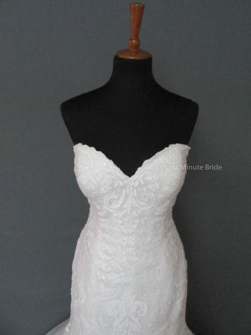 Maggie Sottero Rosamund 6MT199 with detachable cap sleeves