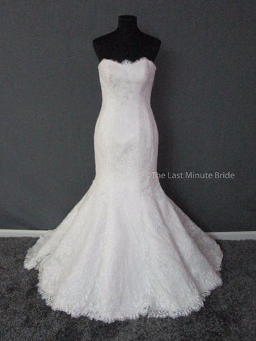 100% Authentic Allure 9117 Wedding Dress, shown with a Beaded Bridal Belt (sold separately)