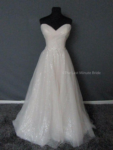 100% Authentic David Tutera 217212 Alma Wedding Dress