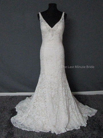 100% Authentic David Tutera Pearl 217205 Wedding Dress