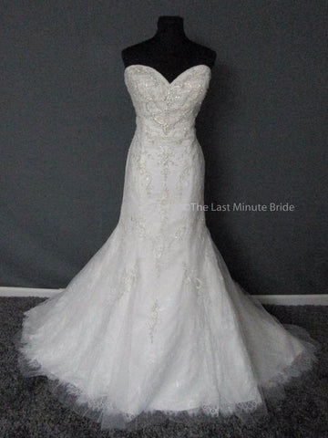 100% Authentic David Tutera Ruth 217211 Wedding Dress