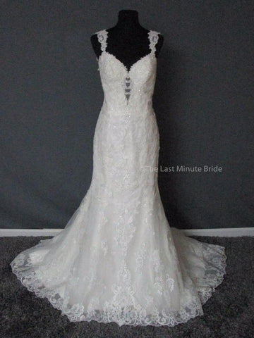 100% Authentic David Tutera Susie 217206 Wedding Dress