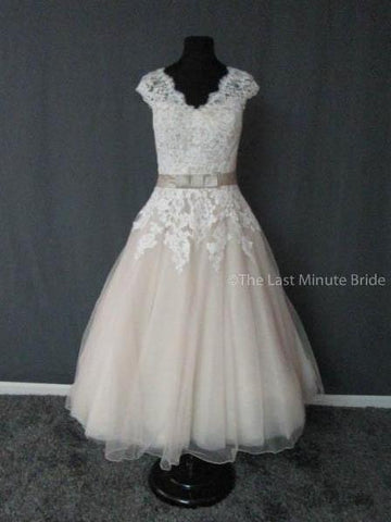 100% Authentic Justin Alexander wedding dress from The Last Minute Bride