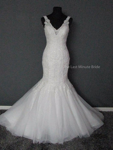 100% Authentic Maggie Sottero Chardonnay 7MN318 Wedding Dress