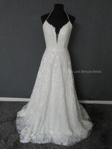7f4ad7c92ec 100% Authentic Samantha Rose from The Last Minute Bride Wedding Dress
