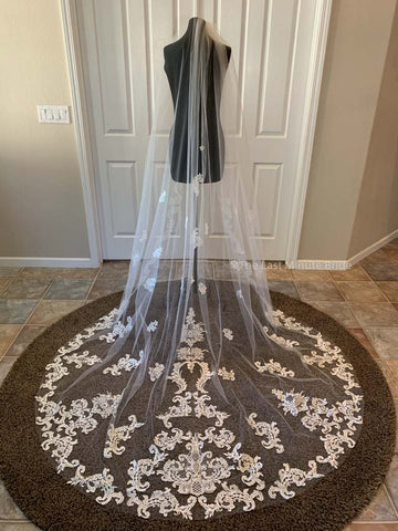 Cathedral Length Veil Style: Breathtaking