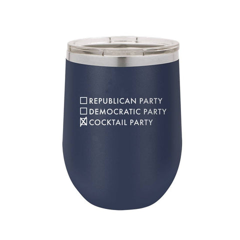 Cocktail Party - 12oz Navy Drink Tumbler