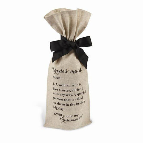 Bridesmaid Gift Wine Bag