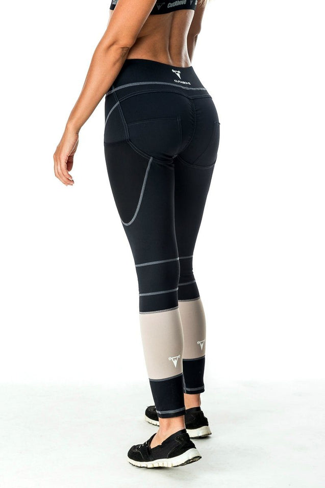Cut Above DeFine Womens High Waisted Leggings - Black