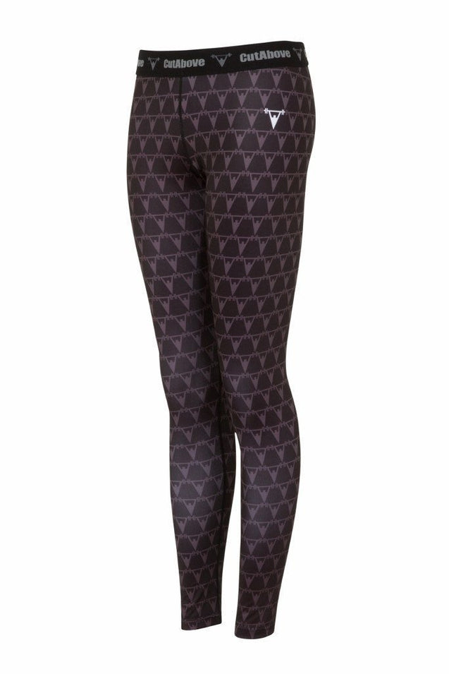 Cut Above Clothing Cut Above Monogram Womens Leggings - Black
