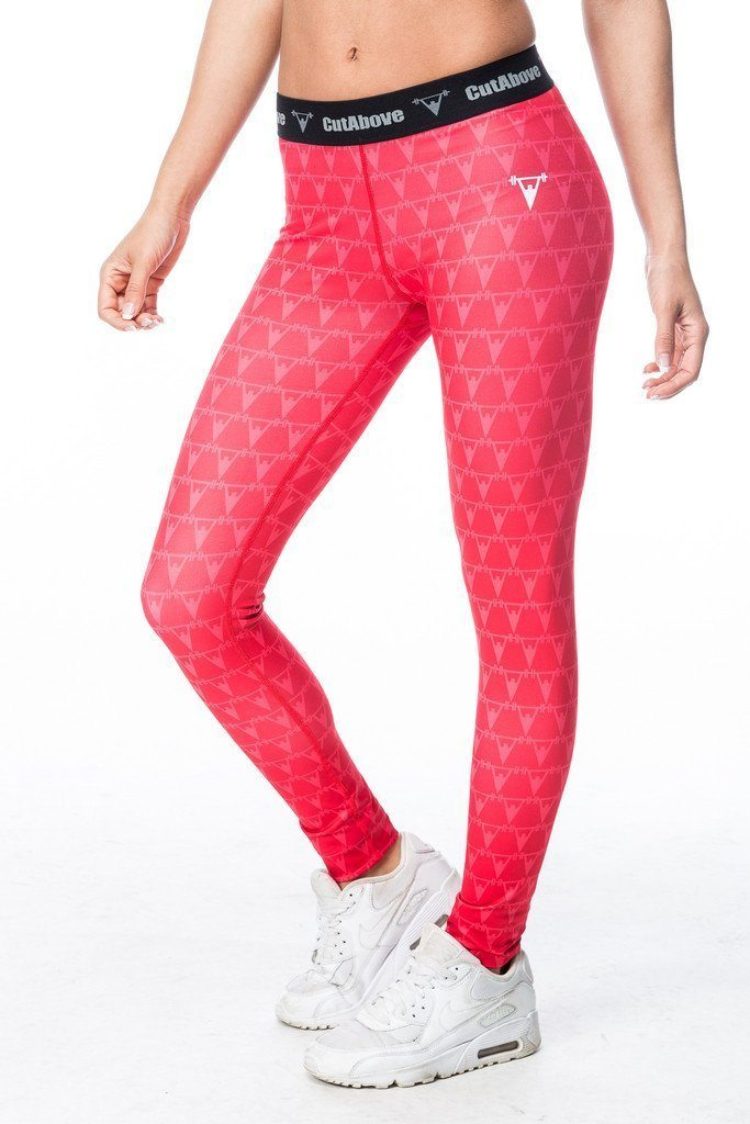 Cut Above Monogram Womens Leggings - Red