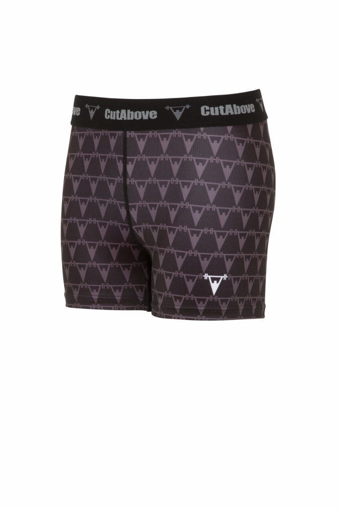 Cut Above Monogram Womens Shorts - Black