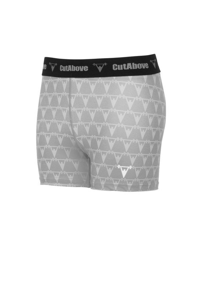 Cut Above Monogram Womens Shorts - Grey