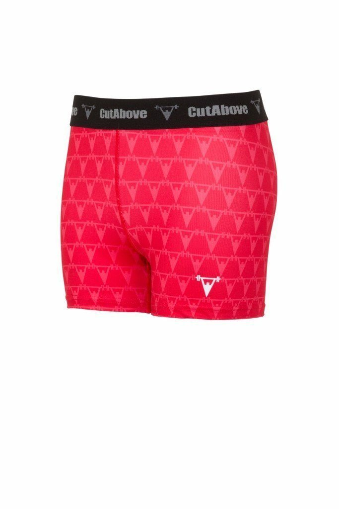 Cut Above Monogram Womens Shorts - Red