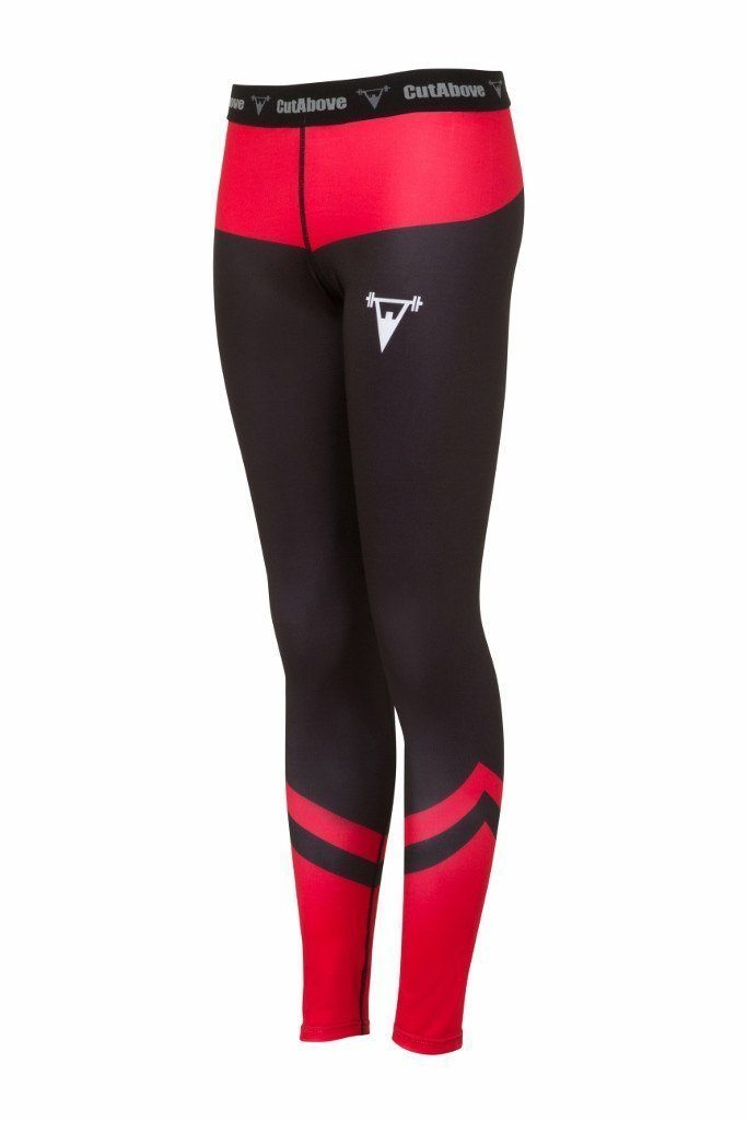 Cut Above Performance Womens Leggings - Red