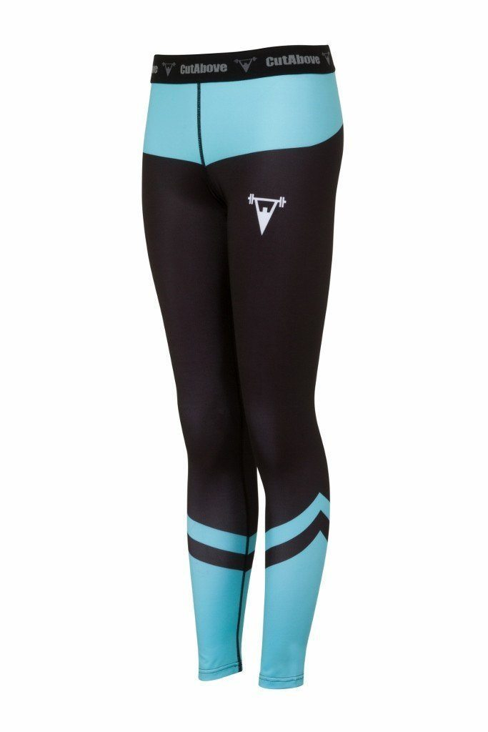 Cut Above Performance Womens Leggings - Teal