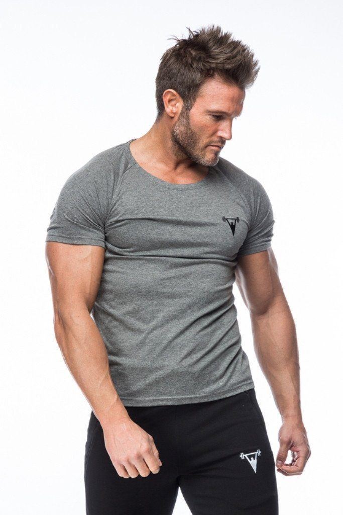 Cut Above 'Basik' Scoop Neck T-Shirt in Grey
