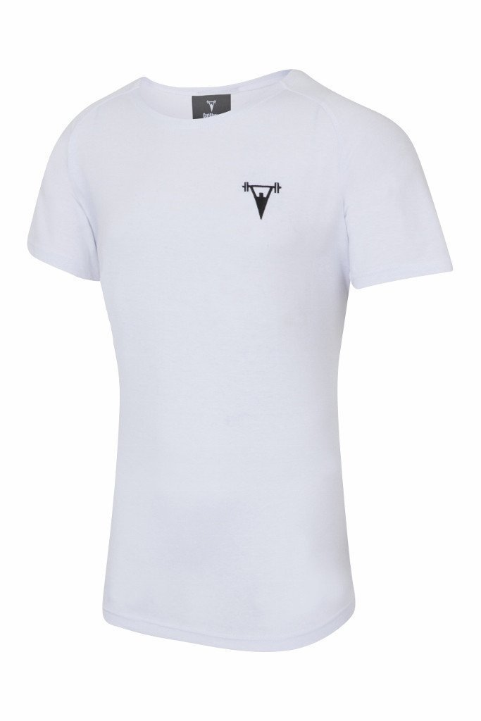 Cut Above 'Basik' Scoop Neck T-Shirt in White