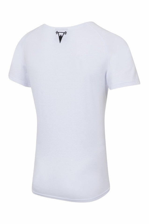 Cut Above Cut Above 'Basik' Scoop Neck T-Shirt in White
