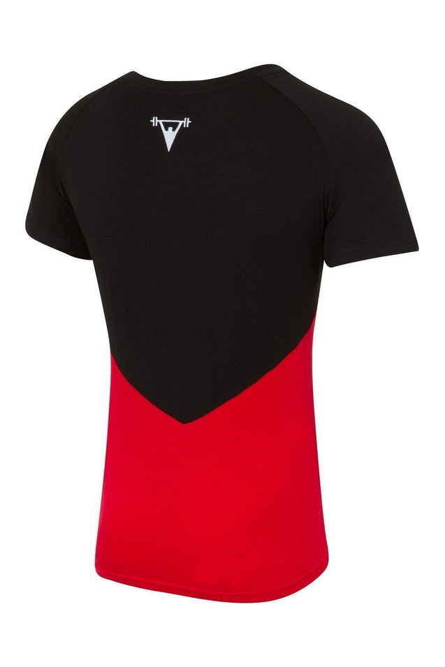 Cut Above Cut Above 'Kontrast' T-Shirt in Black/Red